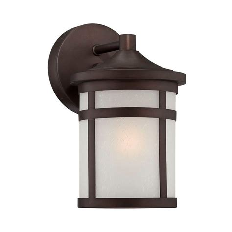 Home Depot Outdoor Light Fixtures Acclaim Lighting Visage Collection Wall Mount 1 Light Outdoor Architectural Bronze Light Fixture