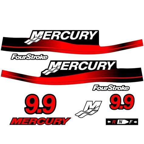 mercury boat motor stickers mercury outboard decal set 9 9hp ebay