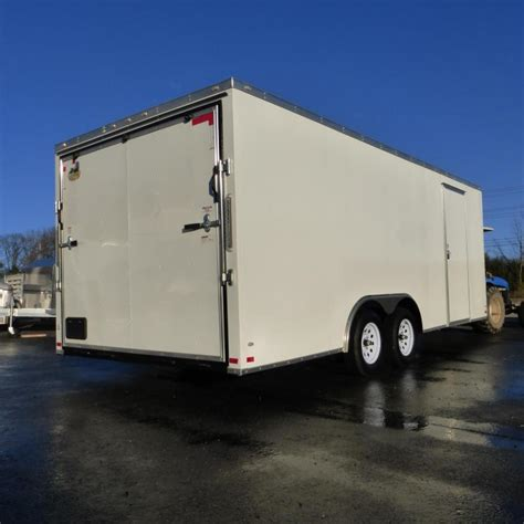 with trailer united trailers 8 5 x 16 enclosed trailer w tool crib