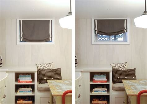 small basement window treatments search