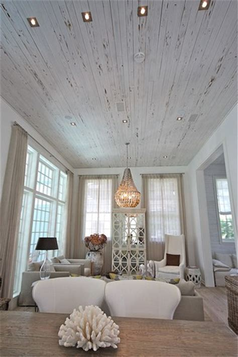 white wash ceiling planks stylish spaces designed for living is