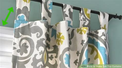 how to make tab top curtains how to make tab top curtains with pictures wikihow