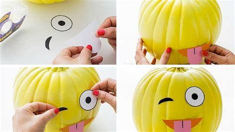decoracion con calabazas decorar calabazas para halloween con divertidos emoticonos