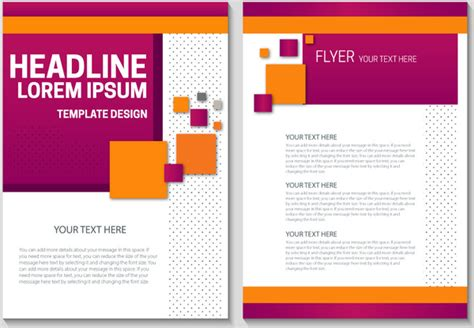 Flyer Template Design With Colorful Geometric Background Free Vector In Adobe Illustrator Ai Adobe Illustrator Flyer Template