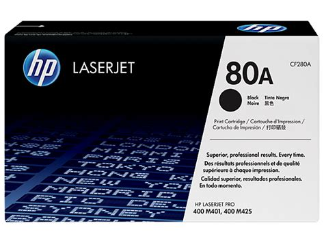 Hp 80a Black Laser Printer Toner Cartridge Cf280a Hp