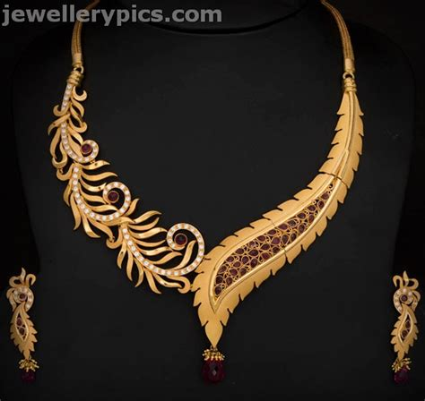 indian jewellery design 2016 gold necklace designs