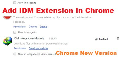 chrome extension idm add idm extension in chrome new version