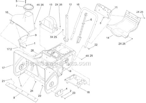 toro snowblower parts diagram toro blower parts bolt housing toro tractor engine and