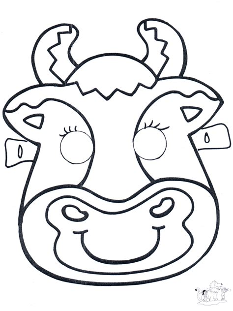 Funnycoloring com crafts masks mask cow 2
