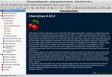 cherry tree app cherrytree giuspen
