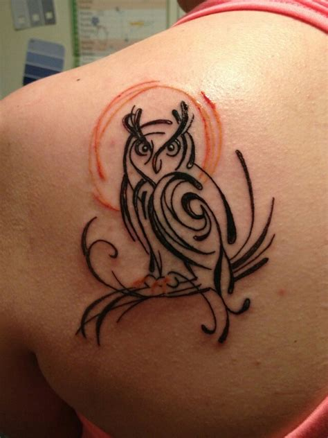 owl tattoo like this simple owl tattoos pinterest