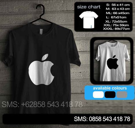 Kaos Apple baju kaos apple 01 baju kaos distro murah
