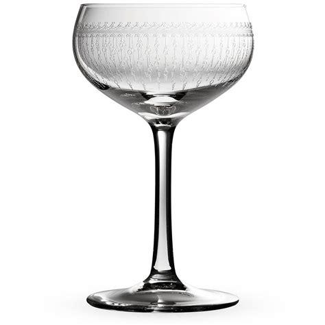 Bar Glassware Bar 1920 Prohibition Etched Retro Coupe