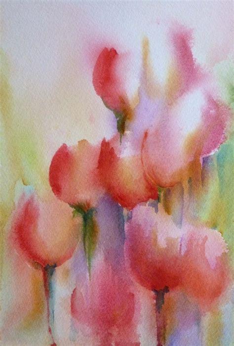 water color wash watercolor wash tulips watercolor