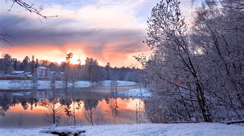 beautiful winter beautiful winter cold and morning lake wallpapers