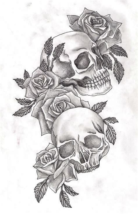 best 25 skull rose tattoos ideas on pinterest lower