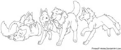 Anime Wolf Girl Colouring Pages sketch template