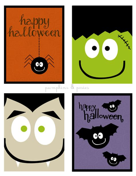 printable birthday cards halloween 6 best images of halloween printable cards free