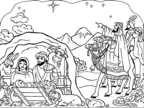 nativity coloring pages coloringpagesabc com