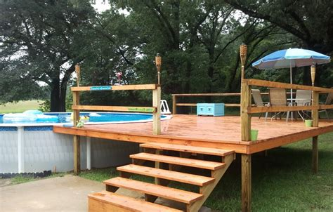 24 Foot Above Ground Pool Deck Plans Above Ground Pool Swimming Pool Deck Design