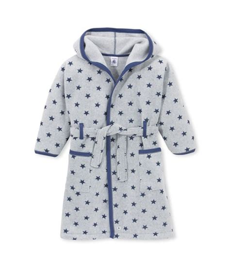 robe de chambre 2 ans robe de chambre gar 231 on en polaire imprim 233 e gris subway bleu logo petit bateau
