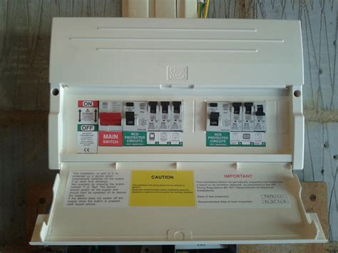 garage consumer unit wiring diagram consumer unit wiring