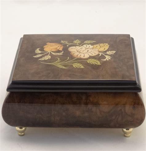 on flower burl box sorrento burl walnut high gloss box with flowers inlay
