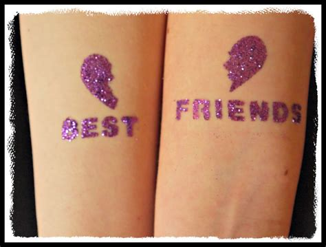 girl best friend tattoos inside the wendy house glitter tattoos review