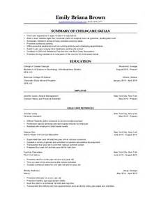 Other Skills In Resume Sample Nanny Experience On Resume Medical Resume Templates