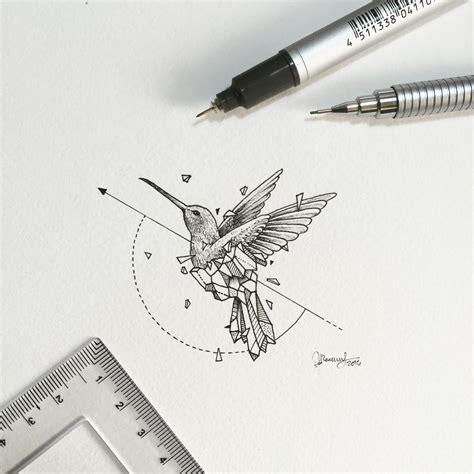 geometric tattoo manila geometric beasts hummingbirds animaux and a drawing