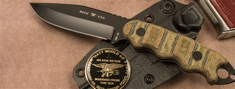 matt leathers navy seal buck releases knife designed by fallen seal knife depot