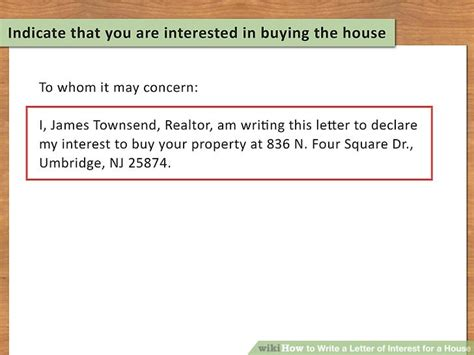 Writing A Personal Letter To Buy A House