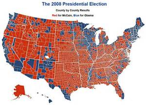 2008 Election Map by 2008 Election Results Map By County An Electoral College