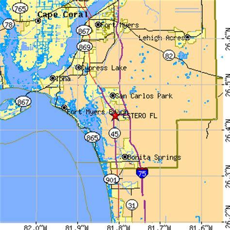 zip code map estero fl estero florida fl population data races housing