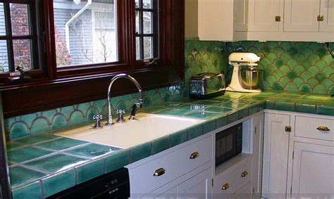 Glass Tile Kitchen Countertop by Tile Countertops Make A Comeback Your Options