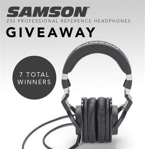 Sam Ash Sweepstakes - sam ash 171 samson z55 professional reference headphones giveaway 171 infinite sweeps