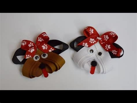 how to make ribbon animal sculptures puppy dog ribbon sculpture zoo animal hair clip bow diy