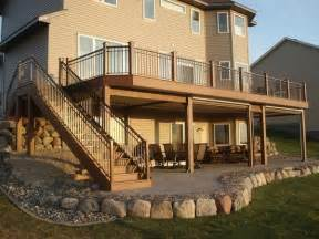 patio construction best 25 second story deck ideas on deck