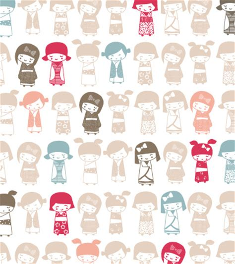 cute japanese pattern red kidsfashionvector cute vector art for kids clothes