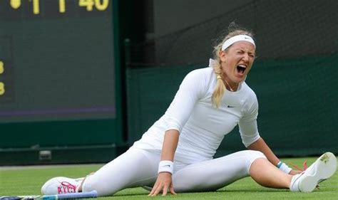 Doing On The by Ouch Azarenka Screams With As She Falls