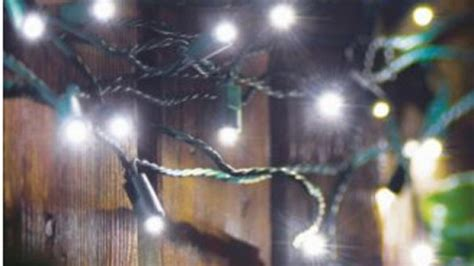 white solar string lights   sainsburys