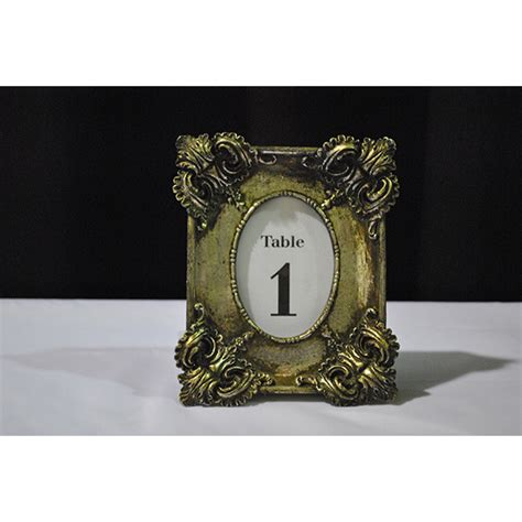 silver frames for wedding table numbers antique silver table number frame