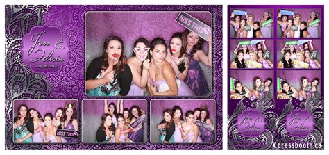 photo layout for photobooth purple silver and paisley wedding xpressbooth photo