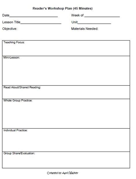 kud lesson plan template the idea backpack how to organize time in reading and