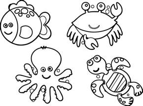 sea creature coloring pages sea animals coloring page wecoloringpage