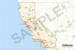 california zip map california zip code map california map