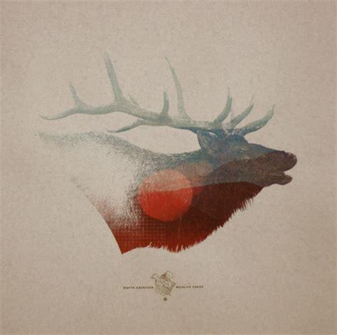 designspiration nature animals antlers deer elk graphic design illustration