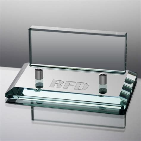 personalized business card holder for desk personalized jade glass business card holder