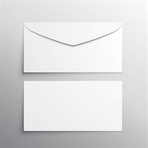 printable envelope vector envelope front and back mockup vector premium download
