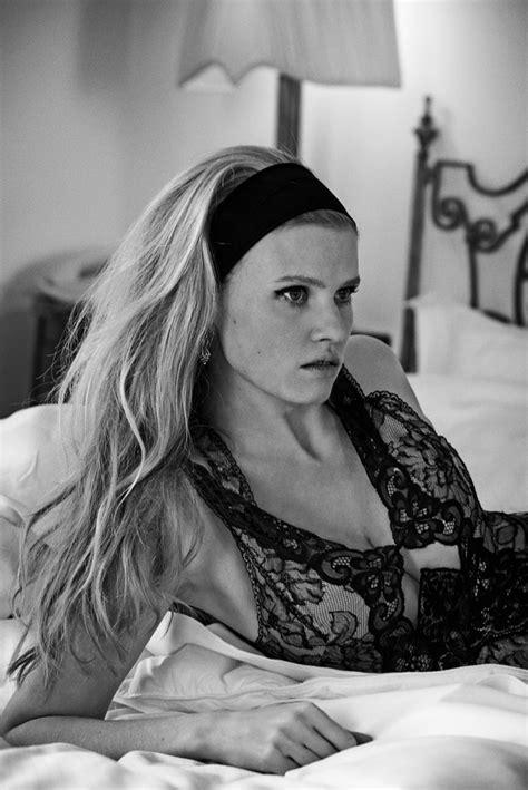 Lara Stone + Kit Harington Cozy Up for Vogue Spread by